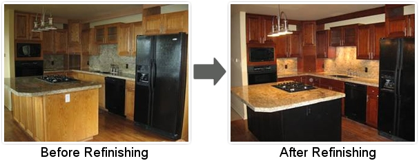 Upscale kitchen refinishing - Refinish old kitchen cabinets ...